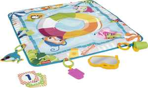 Fisher-Price Dive Right In Activity Mat, Baby Playmat With Toys