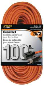 Power Zone OR501635 Extension Cord 100 Ft. Orange