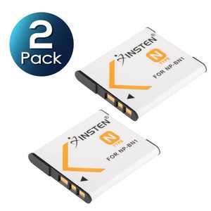 Insten 2 X NP-BN1 NPBN1 Type N Battery Pack for Sony CyberShot DSC-TF1 DSC-W710 DSC-W730 HandyCam HDR-AS30v