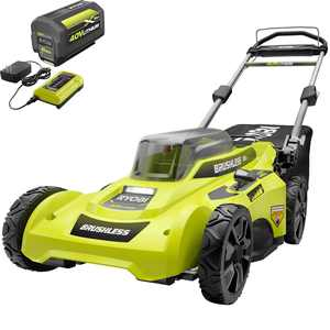 RYOBI 40V Brushless 20 in. Cordless Battery Walk Behind Push Lawn Mower with 6.0 Ah Battery and Charger