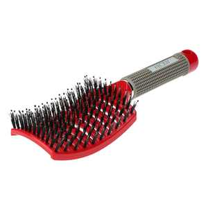 "Abody 9.7"" Nylon Bristle Square Detangling Hair Brush, Red"