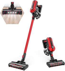 Moosoo K23 Cordless Vacuum 4-in-1 Stick Vacuum with 3 Suction Modes for Carpet Hard Floors Pet Hair
