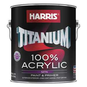 Harris Titanium 1 gal. 100% Acrylic Satin White and Pastel Interior /Exterior Paint