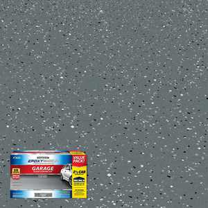 Rust-Oleum EpoxyShield 240 oz. Dark Gray Gloss 2.5-Car Garage Floor Kit