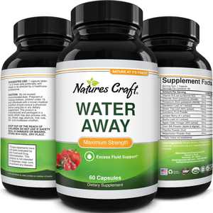 Water Away Diuretic with Dandelion Weight Loss Supplement Burn Fat Reduce Hunger