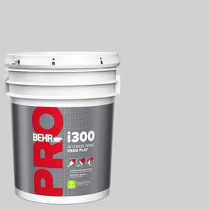 BEHR PRO 5 Gal. #N520-1 White Metal Dead Flat Interior Paint