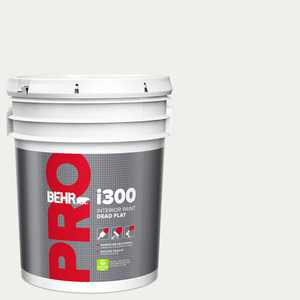 BEHR PRO 5 gal. #57 Frost Dead Flat Interior Paint