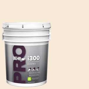 BEHR PRO 5 gal. #13 Cottage White Eggshell Interior Paint