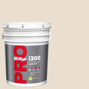BEHR PRO 5 gal. #MS-33 Eggshell White Dead Flat Interior Paint