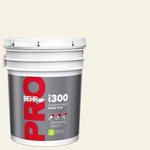 BEHR PRO 5 gal. #BWC-01 Simply White Dead Flat Interior Paint