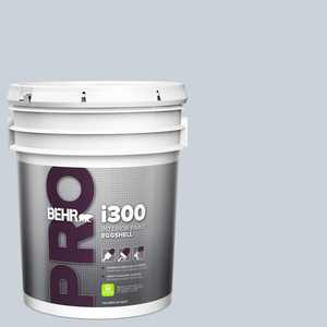 BEHR PRO 5 gal. #N480-1 Light Drizzle Eggshell Interior Paint