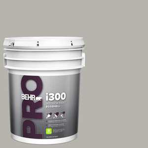 BEHR PRO 5 gal. #PPU24-11 Greige Eggshell Interior Paint