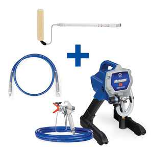 Graco Magnum X5 Stand Airless Paint Sprayer with 4 ft. Whip Hose and Pressure Roller Kit