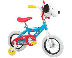 """Peanuts 12"""" Bike with Removable Plush Snoopy bag by Dynacraft!"""