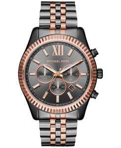 Men's Chronograph Lexington Two-Tone Stainless Steel Bracelet Watch 44mm MK8561