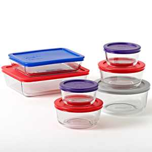Pyrex Simply Store Baking Dish, Glass, 14 Piece