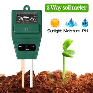 Soil PH Meter, TSV  3-in-1 Moisture Sensor Meter / Sunlight / PH Soil Tester for Home and Garden, Plants, Farm, Indoor/Outdoor Use
