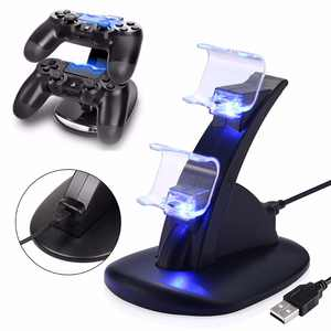 Dual USB Charger Fast Charging Dock Station Stand For Sony PS4 Controller LED Cradle With Charging Cable