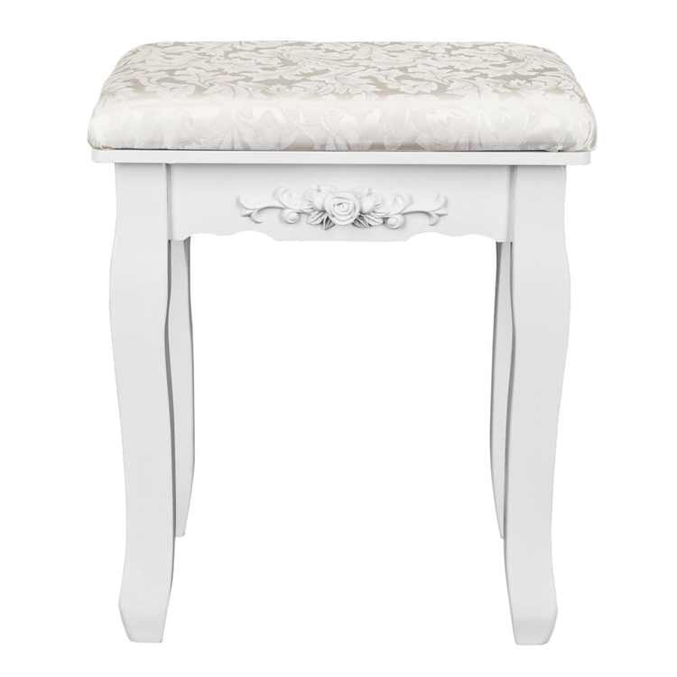 Zimtown Vanity Stool Dressing Chair Piano Stool with Solid Wood Legs