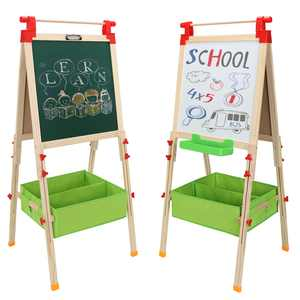 Zimtown Double-Sided Wooden Kids Easel, for Boys and Girls