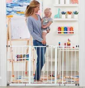 Regalo 56-Inch Extra WideSpan Walk Through Baby Gate, Bonus Kit