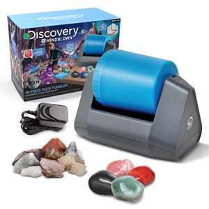 Discovery #Mindblown 18-Piece Rock Tumbler Set with Polishing Machine, Rocks & Jewelry Accessories