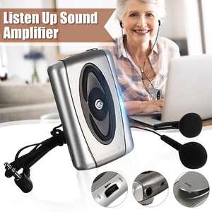 Sound Amplifier Listen Up Voice Hearing-Aid Listening Device Headset For Old Men