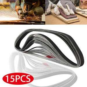 TSV 15Pcs Sanding Belts Sander Abrasive, 1'' x 30'' Sanding Belts 600, 800,1000 Grit Silicon Carbide Sander for Grinding and Polishing Stainless Steel, Non-ferrous Metal, Black metal Plates and Blades