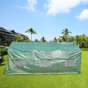 Ktaxon - 15' X 7' X 7' - Green - Walk-In Outdoor Plant Gardening Greenhouse with 6 Roll-Up Windows