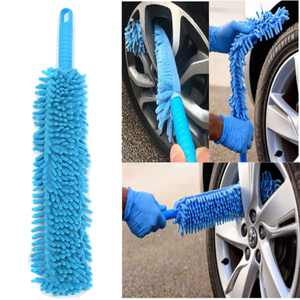 16Inch Car Wash Brush Washer Bendable Car Wheel Brush Flexible Microfiber Noodle Chenille Wheel Cleaner