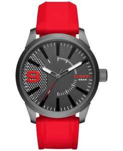 Men's Red Silicone Strap Watch 46x53mm DZ1806