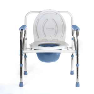 Novashion 3-in-1 Stainless Folding Commode, Bedside Commode, Toilet Seat, and Toilet Safety Frame BathroomHandicap Seniors for Adults Elderly