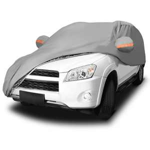 """Car Cover Yitamotor Universal Fit Waterproof Sun UV Snow Rain Resistant All Weather Outdoor Indoor Protection, Fits cars up to 177.17""""L*72.83""""W*64.96""""H"""
