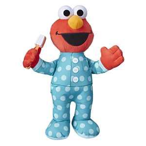 Sesame Street Brushy Brush Elmo 12-inch Plush, Sings the Brushy Brush Song
