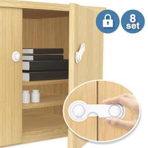 Baby Safety Cabinet Locks, BigRoof 8 PCS Baby Child Safety Lock Kids Safe Proof Door Fridge Cupboard Cabinet Locks