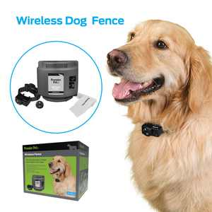 Premier Pet Wireless Fence for Dogs: .5 Acre Adjustable Circular Barrier, Wire-Free Electric Fence, Waterproof Collar, Tone & Static Correction, Portable, Expandable-Add Pets & Coverage Area