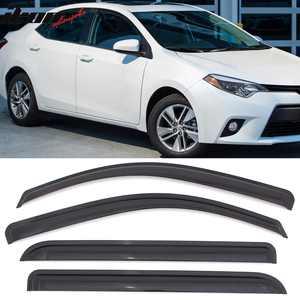 Compatible with 14-19 Toyota Corolla Acrylic Window Visors Vent Deflector Rain Guard 4Pc Set Outside Mount 2014 2015 2016 2017
