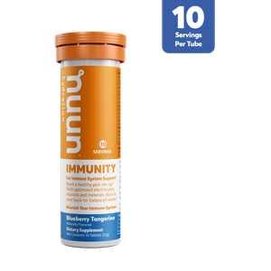 Nuun Immunity Hydration Drink Tablets, Blueberry Tangerine Electrolyte Supplements, 10 Tablets