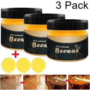 3 Pcs Natural Wood Seasoning Beeswax Furniture Polish Wax ood Cleaner