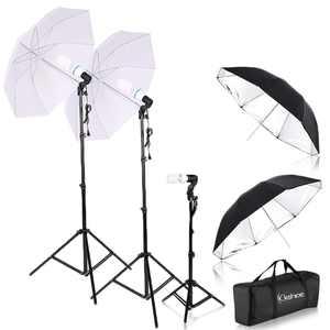 "Zimtown Photography Studio Lighting Kit 4pcs 33"" Umbrella Socket Lamps Light Stand Set"