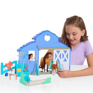 DreamWorks Spirit Riding Free Spirit & Lucky Grooming Paddock,Doll Playsets