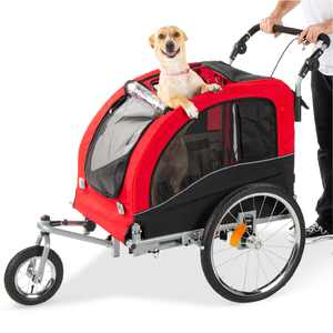 Best Choice Products 2-in-1 Pet Stroller and Trailer w/ Hitch, Suspension, Safety Flag, and Reflectors