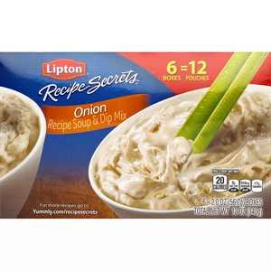 Lipton Recipe Secrets Onion, Recipe Soup & Dip Mix, Seasoning, 6 Pk, 2 oz