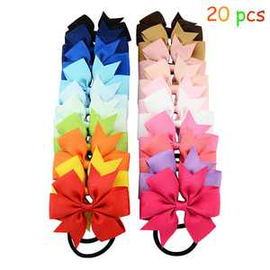 Cute Girls Hair Tie Bands -20 PCS Rope Ring Hair Tie Bands Ropes Ponytail Holder