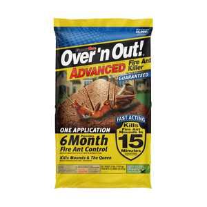 Over 'n Out! Advanced 6 Month Control Fire Ant Killer Granules, 23 Pounds