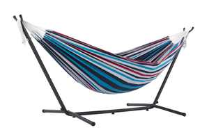 Vivere's Double Denim Hammock Combo with 9ft Stand