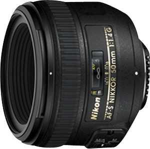 Nikon - AF-S NIKKOR 50mm f/1.4G Standard Lens - Black