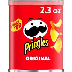 Pringles Potato Crisps Chips, Lunch Snacks, Office and Kids Snacks, Original, 2.3oz, 1 Can