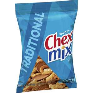 Chex Mix Savory Snack Mix, Traditional, 3.75 oz Bag