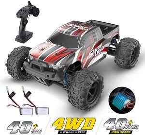 DEERC Car High Speed Remote Control Car 1:18 Scale 30+ MPH 4WD Off Road Truck 2 Batteries 40+ Mins Play Gifts